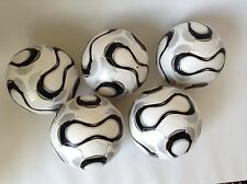 5 Soccer Ball size #4 Black White  Lot New Team Sport Training