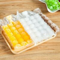 10Pcs 24 Cubes Disposable Self Sealing Ice Cube Bag Mold Plastic Fridge Freezer