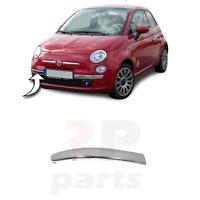 Per Fiat 500 (312) 2007-2015 Nuovo Anteriore Paraurti Inferiore Cromo Modanatura