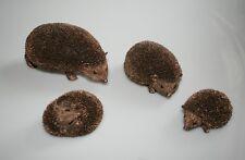 Hedgehog Family Bronze Cast Figures Frith Sculptures Thomas Meadows