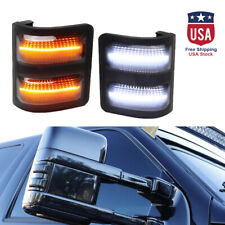 LED Side Mirror Marker Lights Smoked For 08-16 Ford F250 F350 F450 Switchback