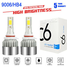 2 x CREE 9006 HB4 LED Headlight Bulbs Kit Hi/Low Beam 1500W 225000LM 6000K White