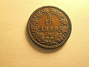 Austria : 5/10 Krezer 1858M . q.BB .