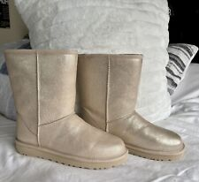 New Women's Ugh Booties In shiny gold