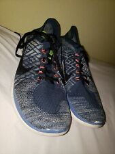 Nike Flyknit Free 4.0 Men Blue Athletic Shoes Size 13 Pre Owned