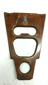 ROLLS ROYCE SILVER SHADOW CORNICHE CENTER CONSOLE CONTROL PANEL WOOD WITH BADGE