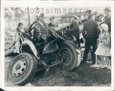 1931 Badly Mangled Auto Collision With Train Puente CA Press Photo