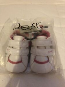 NEW - Next baby shoes - Size 1 - White and pink trainers - Soft material