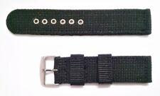 Correa de Nylon para Reloj - 22 mm - Hebilla De Metal - Negro Militar - CMILIN22
