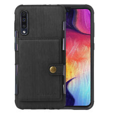 Men's Flip Wallet Case Leather Cell Phone Stand Cover For Samsung Galaxy A50 New