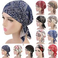 Women Ruffle Muslim Cancer Chemo Bandana Beanie Scarf Turban Head Wrap Cap Hat