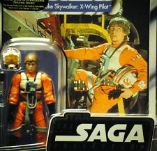 Star Wars Vintage Retro ANH Luke Skywalker X-Wing Fighter Pilot MOC VOTC Figure