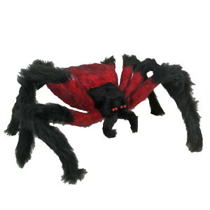 Red And Black Hairy Spider  - 75cm