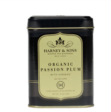 Harney & Sons Organic Passion Plum with Ginseng 4 ounce Tin