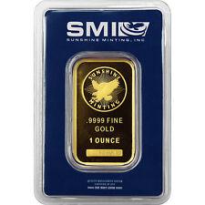 Sunshine Mint 1oz Gold Bar