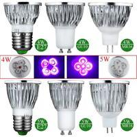4W 5W E27 GU10 MR16 UV LED Ultraviolet Spotlight Lamp Bulb AC 85-265V /12V New