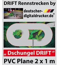 Dschungel DRIFT Rennstrecke - RC Cars - Robuste PVC Plane 4 farbig - 2 x 1 m