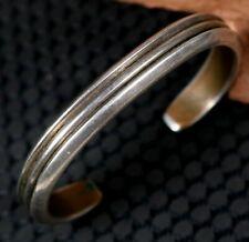 Vintage Old Pawn Navajo HAMMERED Hand Forged Stamped Sterling Copper Bracelet