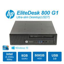 HP EliteDesk 800 G1 Ultra Slim Desktop USDT i5-4590s 3GHz 8GB 500GB DVDRW Win10