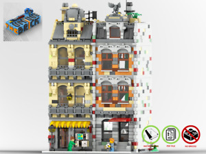 Modular Bookstore & Residence House - PDF Instructions Manual -Suitable for LEGO