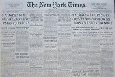 4-1938 WWII April 27 16 BUSIESS LEADERS OFFER COOPERATION FOR RECOVERY ROOSEVELT