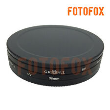 58mm UV CPL ND Lens Filter Protection Case Box for Kenko Hoya / 58mm Lens Cap