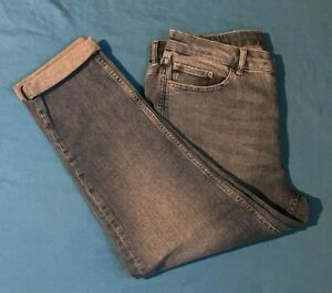 Ladies M & S Jeans-Relaxed Slim Fit. Brand New. Blue. FREE P+P. Size 14