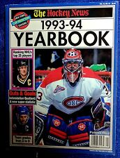 NHL MONTREAL CANADIENS THE HOCKEY NEWS 1993/94 YEARBOOK PATRICK ROY