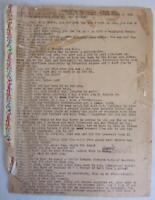 "Original 1930 Curly Joe DeRita ""Celery Scene"" Sketch Comedy Script Three Stooges"