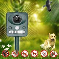 Extérieur Solaire Ultrasonique Puissance Pest Animal Répulsif Jardin Chat Chien