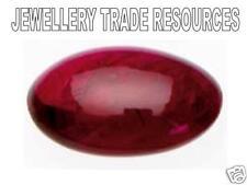 Natural Red Ruby Oval Cabochon Cut 6mm x 4mm Gem Gemstone