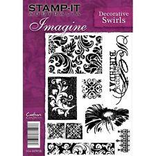 Crafters Companion Stamp-It Australie A5 timbres décoratifs des tourbillons non montés