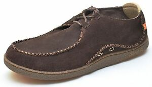 Ocean Minded ROLLER Brown Suede Leather Slip Ons Loafers Shoes Men's - NEW