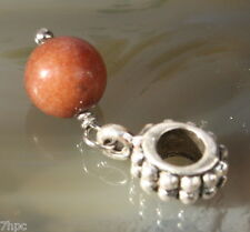 Red Aventurine Dangling Ball Crystal GEMSTONE Charm Bead Reiki Blessed Gem Stone