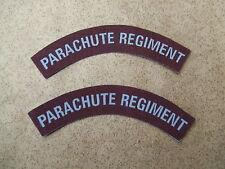 """REPRODUCTION PAIRE DE TITTLES """"PARACHUTE REGIMENT"""" IMPRIMES"""