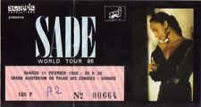 ticket billet place concert used SADE 1986 Cannes FRANCE