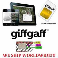 Giffgaff NANO/Micro/Standard SIM / 4G Free £5 Credit The Best UK Sim Card Co+44-