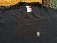 Vintage 90s Tommy Hilfiger T Shirt Crest Lion Logo Navy Blue Embroidered sz L