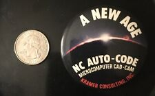NC Auto-Code A New Age Microcomputer Cad-Cam Kramer Consulting Inc Pin Button