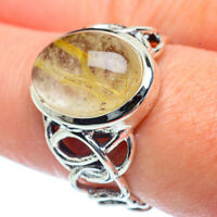 Rutilated Quartz 925 Sterling Silver Ring Size 8.5 Ana Co Jewelry R38175F