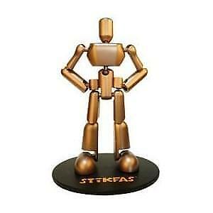 "Stikfas 14"" Bronze Figure"