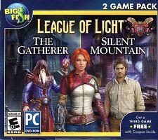 League of Light THE GATHERER + SILENT MOUNTAIN Hidden Object PC Game NEW +BONUS