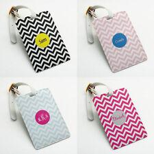 Personalized Luggage Tag Holder, Custom Name, Wedding Favor Gift, zigzag chevron
