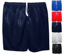 Unisex Girls Boys Kids Childrens School Shadow Stripe Sports PE Football Shorts