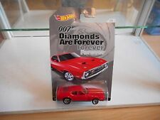 Hotwheels 007 James Bond '71 Ford Mustang Mach 1 in Red on Blister
