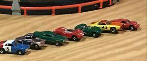 Vintage Aurora Slot Car HO TJet OriginalUsed *Lot of 7 cars*