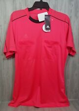 Adidas Football Soccer Mens Red Referee 16 S/S ClimaCool® Jersey Sz M NWT