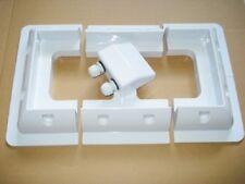 Panneau solaire supports de montage Inc Corner, côté et Twin Câble Glande. White Set