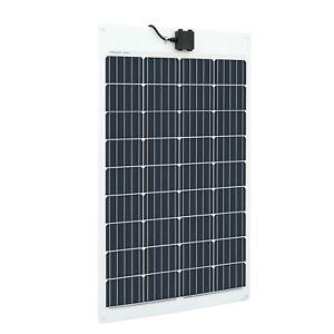 Flexible 120W PV Solar Panel for 12V 24V  Off Grid RV Motor-home Caravan Boats