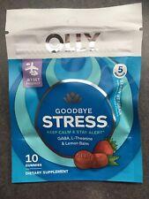 Olly 8 pk of 10 ct goodbye Stress (GABA, L-Theanine, Lemon) gummies - Exp 12/20